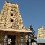 Left side gopuram and garbh gudi gopuram view