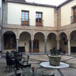 Courtyard in hotel