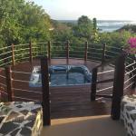Hot tub at villa