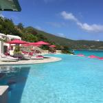 Pool and deck at Pink Sand