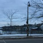 ge Street and Round Lake outside the Villager Pub in January