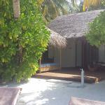 Terrasse Beach Villa 122 qui donne directement sur la plage