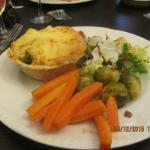 Morney tart with broc & Cauli
