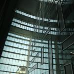 View looking up out the window (Atrium)