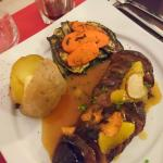 Magret de canard, sauce orange
