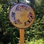 sign along bike path