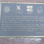 Plaque near the logging wheels