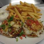 Crab Melt in the restaurant