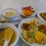 朝食です。毎日内容が変わります。美味しかった♪