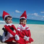 We found our kids elves spending time on the beach.