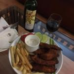 Fish n Chips with Red Wine