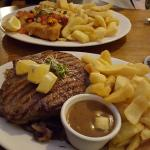 Best steak and chips ever.