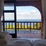 Ocean view from inside the room