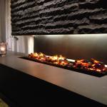 Fireplace bar area