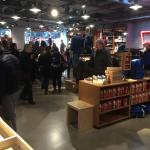 A packed Levis store at Outlet City