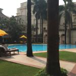 Oberoi Grand central court with pool