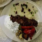 Lamb kabob. Yummy!