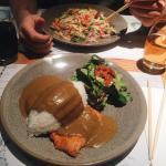 Chicken Katsu Curry and Ginger Chicken Udon