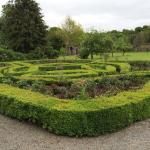 The garden parterre restored.
