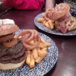 Decent sized burgers