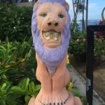 Mr. Lion at the gate of Veranda View
