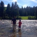 Fly fishing in the Gallatin
