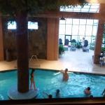 Pool view from 2nd floor skywalk