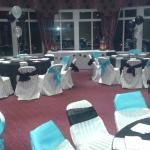 The room set up for my party with my colour scheme!