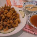 Fried spicy Calimari with Spicy Mustard and Sweet & Sour dipping sauce