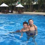 Boys enjoying the pool