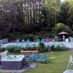 Use the pool or hot tub (seasonal) after hiking our trails.
