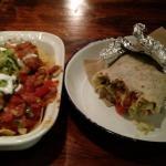 Nachos Grandes and Burrito