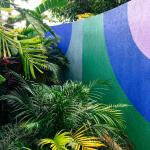 colourful walls everywhere in this resort