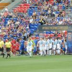 Teams entering the stadium
