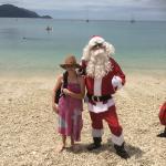 Christmas with Santa on the Beach