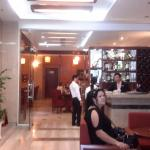 Foyer view towards restaurant at Golden Rose