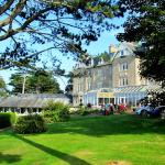A summers day view of the hotel and its popular spa