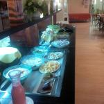 One side of breakfast buffet