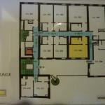Le plan des étages (en bas, la partie sur cour)