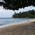 une partie plage de l'hôtel