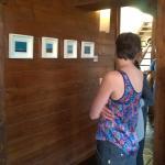 Inauguración de la muestra en la galería de la hostería