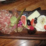 Charcuterie Board (Removed crackers so you can see it.)