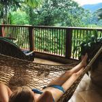 Relaxing on terrace