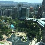 View from Petronas Towers at KLCC park