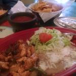 The lunch fajita plate.