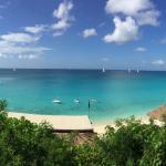 Panoramic view of the La Samanna beach