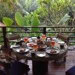 Petit déjeuner servi sur votre terrasse