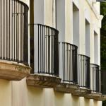 balconies on second floor