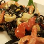 Spicy Squid Ink spaghetti