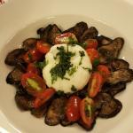 Eggplant/cheese/tomato dish
